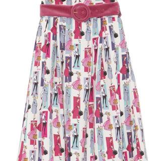 リリーブラウン(Lily Brown)の❤️完売品❤️ リリーブラウン Barbie柄スカート バービー コラボ 今季(ひざ丈スカート)