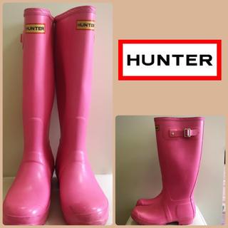 ハンター(HUNTER)のHUNTER♡ポップピンク ロングレインブーツ♡(レインブーツ/長靴)