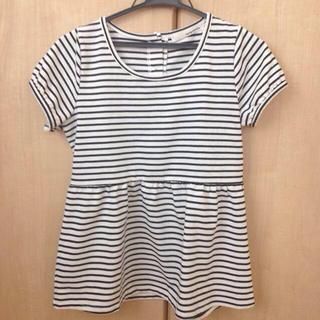 ミスティウーマン(mysty woman)のペプラムボーダーT(Tシャツ(半袖/袖なし))