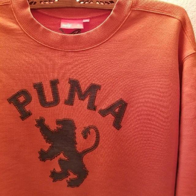 PUMA(プーマ)のプーマLオレンジ ワッペンロゴ付スエット トレーナー美品  メンズのトップス(スウェット)の商品写真