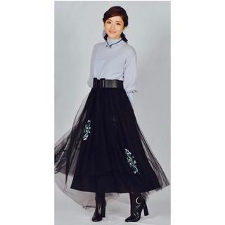 フレイアイディー(FRAY I.D)のチュールスカート(ロングスカート)