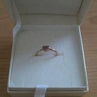 K18PG指輪*ルビーハートモチーフ  (リング(指輪))