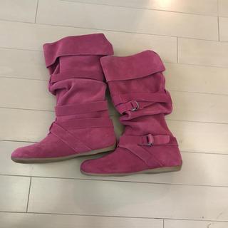 ザラ(ZARA)のZARA ピンクのブーツ 32(20cm)(ブーツ)