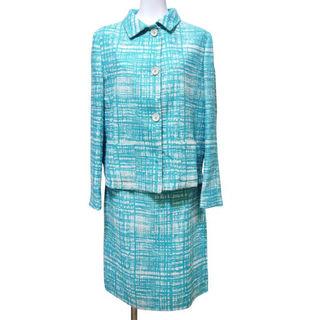 プラダ(PRADA)の新品プラダ ツイードスーツ ターコイズブルー #42 PRADA(スーツ)