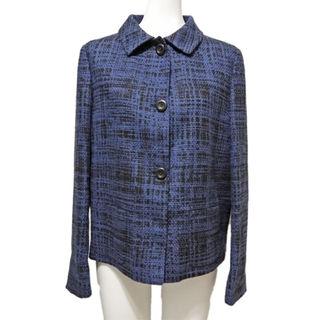 プラダ(PRADA)の新品プラダ 上品なツイードジャケット 紺 #42 PRADA(スーツ)