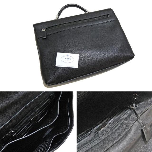 PRADA(プラダ)の新品プラダPRADAメンズレザービジネスバッグ(ブリーフケース黒 メンズのバッグ(ビジネスバッグ)の商品写真