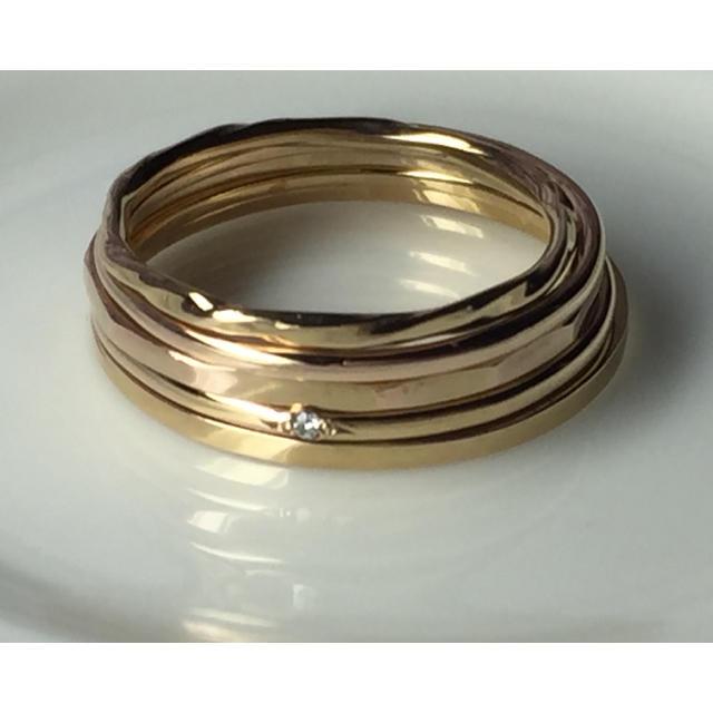 18kgpリング5個セット レディースのアクセサリー(リング(指輪))の商品写真