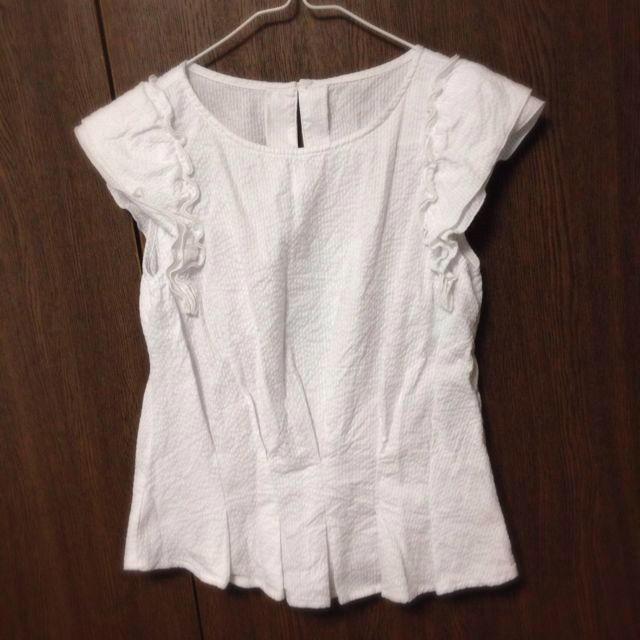 mysty woman(ミスティウーマン)のフリルセットアップトップス レディースのトップス(Tシャツ(半袖/袖なし))の商品写真