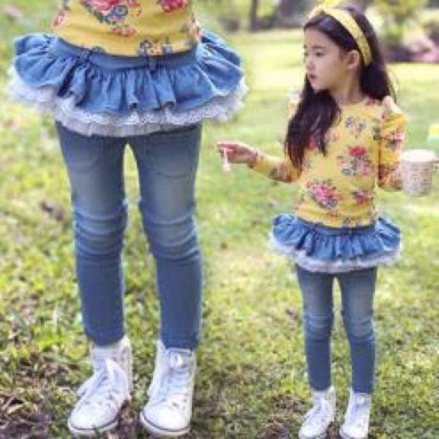 【残りわずか】再入荷♡デニムパンツ♡ キッズ/ベビー/マタニティのキッズ服 女の子用(90cm~)(パンツ/スパッツ)の商品写真