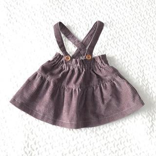 ボンポワン(Bonpoint)のハンドメイド  サスペンダー付きスカート  70-75(スカート)