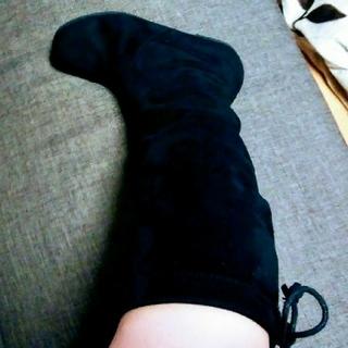 ムジルシリョウヒン(MUJI (無印良品))のまきんこさま専用!無印良品 ブーツ黒♡未使用 折りたたみ♪携帯用にも!専用袋付き(ブーツ)