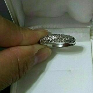 最終☆Pt900ピンクダイヤパヴェリング  1.00ct 美品(リング(指輪))