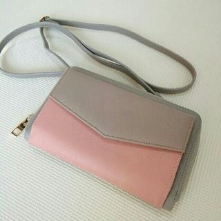 シマムラ(しまむら)のしまむら お財布ポシェット  ショルダーバッグ バイカラー(財布)