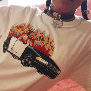 ユニフ(UNIF)のUNIF ユニフ ACAB TEE パンク レア 完売 Tシャツ ユニセックス(Tシャツ(半袖/袖なし))