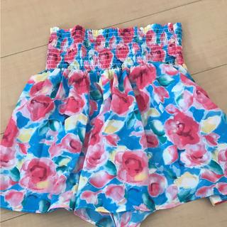 ジーユー(GU)のGU花柄スカート(スカート)