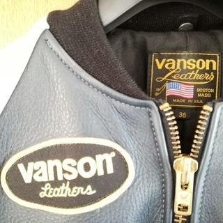 バンソン(VANSON)のバンソン TJV  新品 ネイビー Vanson RJV(ライダースジャケット)