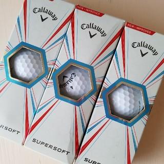 キャロウェイ(Callaway)のキャロウェイスーパーソフト新品3ダース12個callawayゴルフボール(その他)