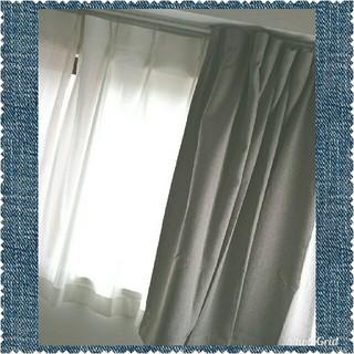 ムジルシリョウヒン(MUJI (無印良品))の無印良品 プリーツカーテン 2枚&防災レースプリーツカーテン 2枚 全4枚セット(カーテン)