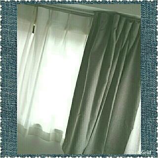 ムジルシリョウヒン(MUJI (無印良品))の無印良品 プリーツ カーテン&防災レースプリーツカーテン 3枚 全6枚セット(カーテン)