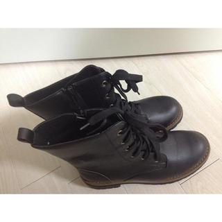 Laceアップブラック(ブーツ)