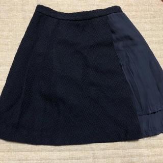 マーキュリーデュオ(MERCURYDUO)のMERCURYDUO♡ツイードティアードプリーツ切替スカート(ミニスカート)
