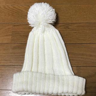 レプシィム(LEPSIM)の試着のみレプシムホワイトニット帽(ニット帽/ビーニー)