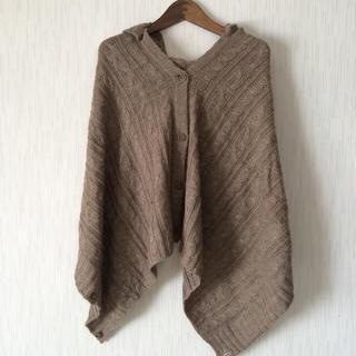 ムジルシリョウヒン(MUJI (無印良品))の無印良品 3wayケーブル編みポンチョ(ポンチョ)