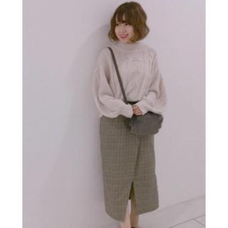 フーズフーチコ(who's who Chico)のハイネックニット+グレンチェックスカート 専用です✨(ニット/セーター)