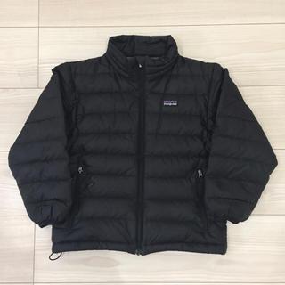パタゴニア(patagonia)のパタゴニア ダウン キッズ XS ブラック 黒(ジャケット/上着)