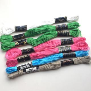 オリンパス(OLYMPUS)の ✿ オリムパス 刺繍糸 コスモ 刺繍糸 7本   ✿(生地/糸)