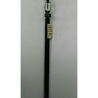 ムジルシリョウヒン(MUJI (無印良品))の新品  無印良品 ヌメ革 手染め細帯ベルト・黒(ベルト)