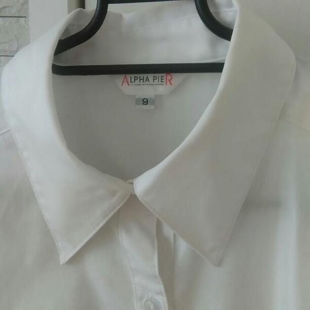 アルファピア 事務 ブラウス 長袖 ホワイト 9号 レディースのトップス(シャツ/ブラウス(長袖/七分))の商品写真