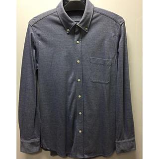 ムジルシリョウヒン(MUJI (無印良品))の無印良品 強撚鹿の子素材  メンズXL ボタンダウンシャツ 定価¥3980(シャツ)