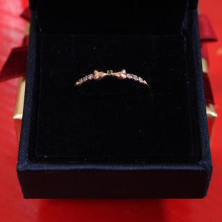 k10 ピンクゴールド ダイヤ ペリドット リング(リング(指輪))