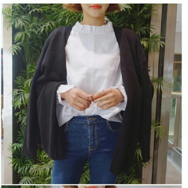 dholic(ディーホリック)の新品未使用 ホワイトブラウス レディースのトップス(シャツ/ブラウス(長袖/七分))の商品写真