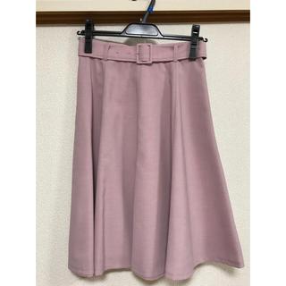アプワイザーリッシェ(Apuweiser-riche)のフレアカラースカート(ひざ丈スカート)