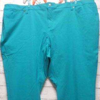新品 カラー パンツ グリーン デニム 146 大きいサイズ(デニム/ジーンズ)