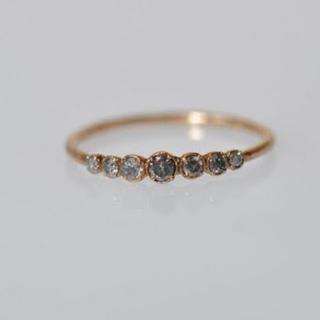 値下!noguchiグレーナッツダイヤモンドリング/6号サイズ/ノグチ/ピンキー(リング(指輪))