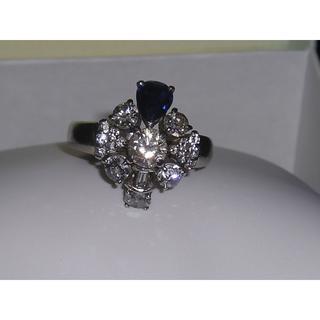 サファイヤ&ダイヤリング プラチナ台(リング(指輪))