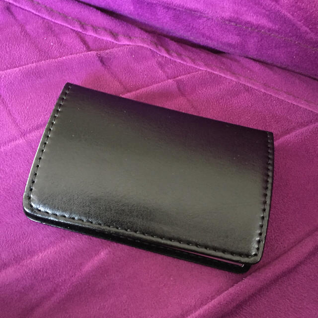 本革名刺入れ  牛革 レザー  折れない カードケース ブラウン 黒 メンズのファッション小物(名刺入れ/定期入れ)の商品写真
