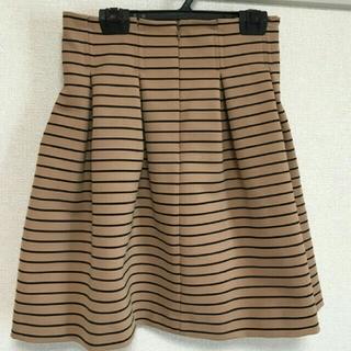 マーキュリーデュオ(MERCURYDUO)のボーダーフレアスカート♡美品(ミニスカート)