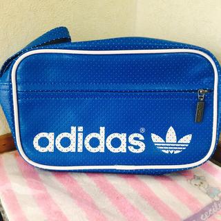 アディダス(adidas)のadidas アディダス ブルー青 バッグ 新品(セカンドバッグ/クラッチバッグ)