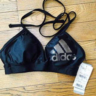 アディダス(adidas)のadidas アディダス ブラトップ ブラックxシルバー 新品 L(ベアトップ/チューブトップ)