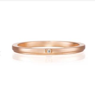 ヨンドシー(4℃)の保証書あり カナル4°C ダイヤ ゴールド リング 9号 / 4°C (リング(指輪))