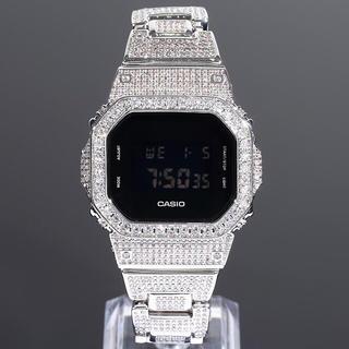 ジーショック(G-SHOCK)のG-SHOCK  DW5600 フルカスタム WHITE GOLD CZダイヤ(腕時計(デジタル))