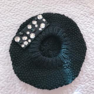 マーキュリーデュオ(MERCURYDUO)のマーキュリーデュオ✩ビジュー付きベレー帽(ハンチング/ベレー帽)