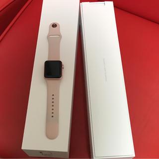 アップルウォッチ(Apple Watch)の3%クーポン可能 Apple Watch series 2 ピンク 38mm(スマートフォン本体)