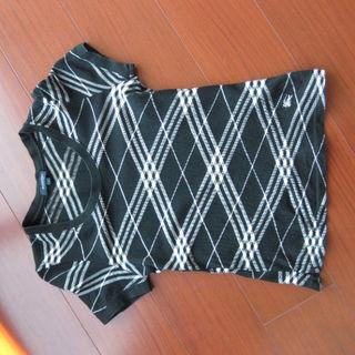 バーバリー(BURBERRY)のバーバリーロンドン・半袖・黒×白・1号S-Mサイズ(その他)
