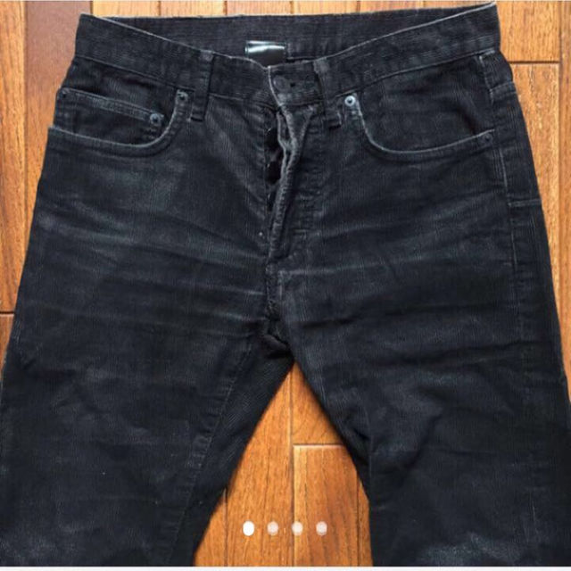 DIOR HOMME(ディオールオム)のakasi様 専用です♬Dior ブラックコーデュロイ コーティング 26 メンズのパンツ(デニム/ジーンズ)の商品写真