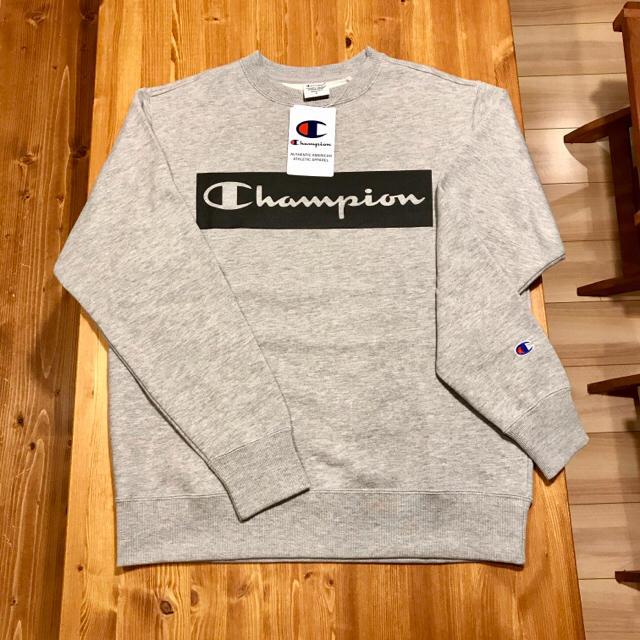 Champion(チャンピオン)の新品☆ チャンピオン ボックス ロゴ 長袖 トレーナー グレー champion メンズのトップス(スウェット)の商品写真